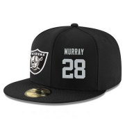 Wholesale Cheap Oakland Raiders #28 Latavius Murray Snapback Cap NFL Player Black with Silver Number Stitched Hat