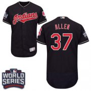 Wholesale Cheap Indians #37 Cody Allen Navy Blue Flexbase Authentic Collection 2016 World Series Bound Stitched MLB Jersey