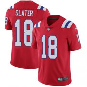 Wholesale Cheap Nike Patriots #18 Matt Slater Red Alternate Men's Stitched NFL Vapor Untouchable Limited Jersey