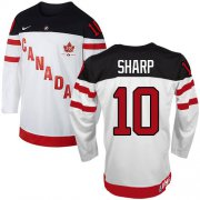 Wholesale Cheap Olympic CA. #10 Patrick Sharp White 100th Anniversary Stitched NHL Jersey