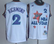 Wholesale Cheap NBA 1995 All-Star #2 Mitch Richmond White Hardwood Classics Soul Swingman Throwback Jersey