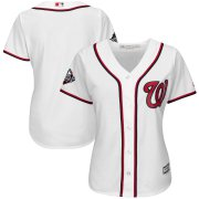 Wholesale Cheap Nationals Blank White Women's Home 2019 World Series Bound Cool Base Stitched MLB Jersey