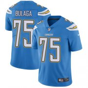 Wholesale Cheap Nike Chargers #75 Bryan Bulaga Electric Blue Alternate Youth Stitched NFL Vapor Untouchable Limited Jersey