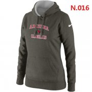 Wholesale Cheap Women's Nike Arizona Cardinals Heart & Soul Pullover Hoodie Grey