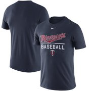 Wholesale Cheap Minnesota Twins Nike Away Practice T-Shirt Navy