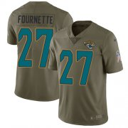 Wholesale Cheap Nike Jaguars #27 Leonard Fournette Olive Men's Stitched NFL Limited 2017 Salute to Service Jersey