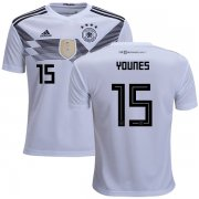 Wholesale Cheap Germany #15 Younes White Home Kid Soccer Country Jersey