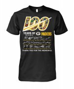 Wholesale Cheap Green Bay Packers 100 Seasons Memories T-Shirt Black