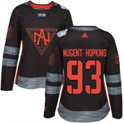 Wholesale Cheap Team North America #93 Ryan Nugent-Hopkins Black 2016 World Cup Women's Stitched NHL Jersey