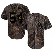 Wholesale Cheap White Sox #54 Ervin Santana Camo Realtree Collection Cool Base Stitched MLB Jersey