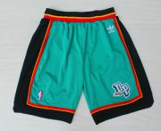 Wholesale Cheap Men's Detroit Pistons Green Hardwood Classics Swingman Shorts