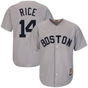 Wholesale Cheap Boston Red Sox #14 Jim Rice Majestic Cooperstown Collection Cool Base Player Jersey Gray