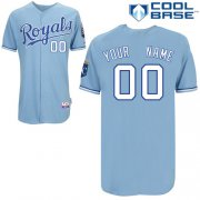 Wholesale Cheap Royals Personalized Authentic Light Blue Cool Base MLB Jersey (S-3XL)