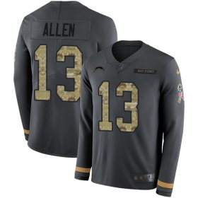 Wholesale Cheap Nike Chargers #13 Keenan Allen Anthracite Salute to Service Youth Stitched NFL Limited Therma Long Sleeve Jersey