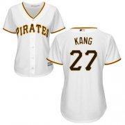 Wholesale Cheap Pirates #27 Jung-ho Kang White Home Women's Stitched MLB Jersey
