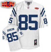 Wholesale Cheap Colts #85 Pierre Garcon White With Super Bowl Patch Stitched NFL Jersey