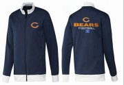 Wholesale NFL Chicago Bears Victory Jacket Dark Blue_1