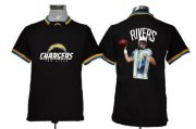 Wholesale Cheap Nike Chargers #17 Philip Rivers Black Men's NFL Game All Star Fashion Jersey