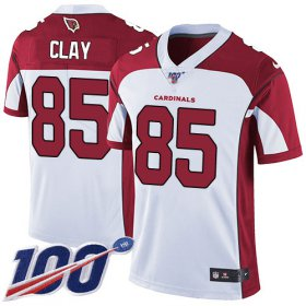 Wholesale Cheap Nike Cardinals #85 Charles Clay White Men\'s Stitched NFL 100th Season Vapor Limited Jersey