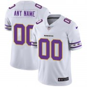 Wholesale Cheap Baltimore Ravens Custom Nike White Team Logo Vapor Limited NFL Jersey