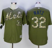 Wholesale Cheap Mets #32 Steven Matz Green Camo New Cool Base Stitched MLB Jersey