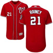 Wholesale Cheap Nationals #21 Tanner Rainey Red Flexbase Authentic Collection Stitched MLB Jersey