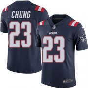 Wholesale Cheap Nike Patriots #23 Patrick Chung Navy Blue Men's Stitched NFL Limited Rush Jersey