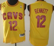 Wholesale Cheap Cleveland Cavaliers #12 Anthony Bennett Revolution 30 Swingman Yellow Jersey