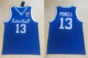 Wholesale Cheap Men's Seton Hall Pirates #13 Myles Powell Blue College Basketball Swingman Stitched Jersey