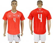 Wholesale Cheap Switzerland #4 Elvedi Red Home Soccer Country Jersey