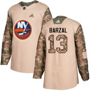 Wholesale Cheap Adidas Islanders #13 Mathew Barzal Camo Authentic 2017 Veterans Day Stitched Youth NHL Jersey