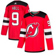 Wholesale Cheap Adidas Devils #9 Taylor Hall Red Home Authentic Stitched NHL Jersey