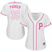 Wholesale Cheap Pirates #39 Dave Parker White/Pink Fashion Women's Stitched MLB Jersey