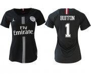 Wholesale Cheap Women's Jordan Paris Saint-Germain #1 Buffon Home Soccer Club Jersey
