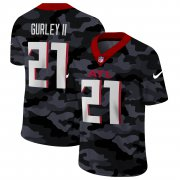 Cheap Atlanta Falcons #21 Todd Gurley II Men's Nike 2020 Black CAMO Vapor Untouchable Limited Stitched NFL Jersey