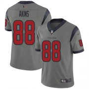Wholesale Cheap Nike Texans #88 Jordan Akins Gray Men's Stitched NFL Limited Inverted Legend Jersey