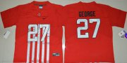 Wholesale Cheap Men's Ohio State Buckeyes #27 Eddie George Red Elite Stitched College Football 2016 Nike NCAA Jersey