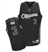 Wholesale Cheap Los Angeles Clippers #3 Chris Paul All Black With White Jersey