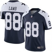 Wholesale Cheap Nike Cowboys #88 CeeDee Lamb Navy Blue Thanksgiving Men's Stitched NFL Vapor Untouchable Limited Throwback Jersey