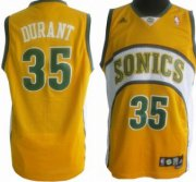 Wholesale Cheap Seattle Supersonics #35 Kevin Durant 1994-95 Yellow Swingman Jersey