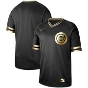 Wholesale Cheap Nike Cubs Blank Black Gold Authentic Stitched MLB Jersey