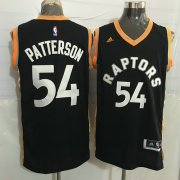 Wholesale Cheap Men's Toronto Raptors #54 Patrick Patterson Black With Gold New NBA Rev 30 Swingman Jersey