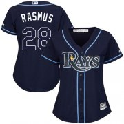 Wholesale Cheap Rays #28 Colby Rasmus Dark Blue Alternate Women's Stitched MLB Jersey