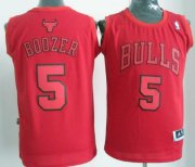 Wholesale Cheap Chicago Bulls #5 Carlos Boozer Revolution 30 Swingman Red Big Color Jersey