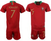 Wholesale Cheap Portugal #7 Ronaldo Home Kid Soccer Country Jersey