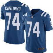 Wholesale Cheap Nike Colts #74 Anthony Castonzo Royal Blue Team Color Youth Stitched NFL Vapor Untouchable Limited Jersey