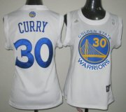 Wholesale Cheap Golden State Warriors #30 Stephen Curry White Womens Jersey