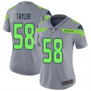 Wholesale Cheap Nike Seahawks #58 Darrell Taylor Gray Women's Stitched NFL Limited Inverted Legend Jersey