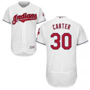 Wholesale Cheap Indians #30 Joe Carter White Flexbase Authentic Collection Stitched MLB Jersey