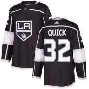Wholesale Cheap Adidas Kings #32 Jonathan Quick Black Home Authentic Stitched NHL Jersey